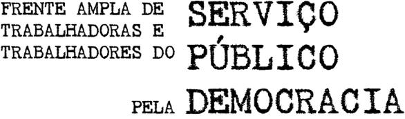 Logo Frente Ampla de Trabalhadoras e Trabalhadores do Serviço Público pela Democracia