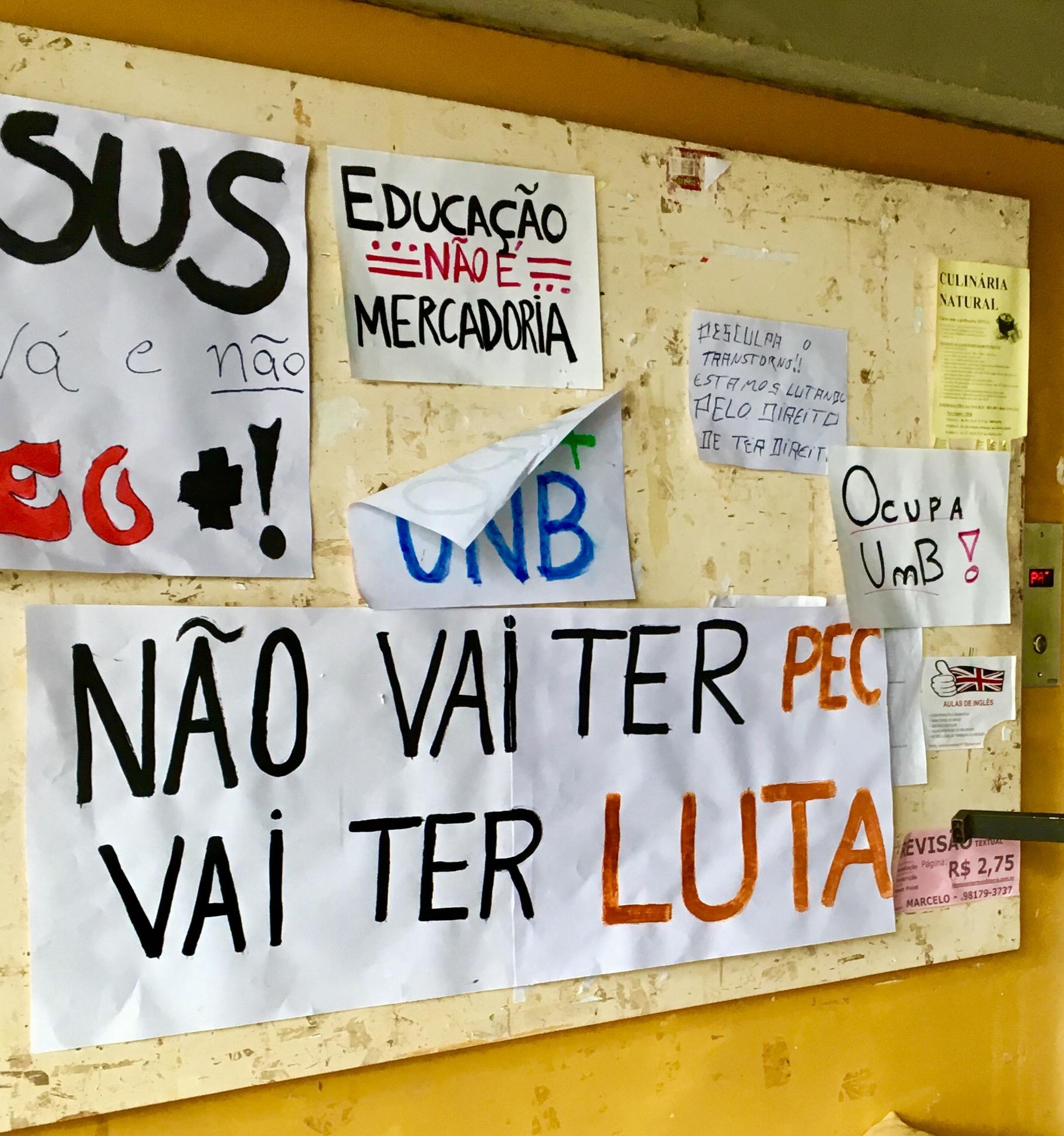 Ocupação da reitoria da Universidade de Brasília. Foto: Serviço Público pela Democracia